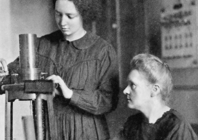 Marie Curie and her daughterIrene, 1925.