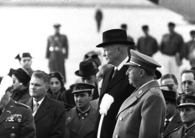 Francisco Franco and Dwight D. Eisenhower in Madrid in (December) 1959