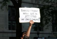 Turkish people in Chicago protesting Turkish government and police brutality in Turkey, June 15th 2013.