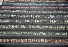 Human Rights Day chalking of the steps